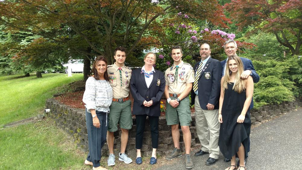 The Mellone Family at Corin's Eagle Scout Ceremony with PER Lew and ER Marilyn
