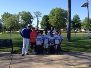 Member RJ, who is also a CHS baseball coach, hanging with some of our participants