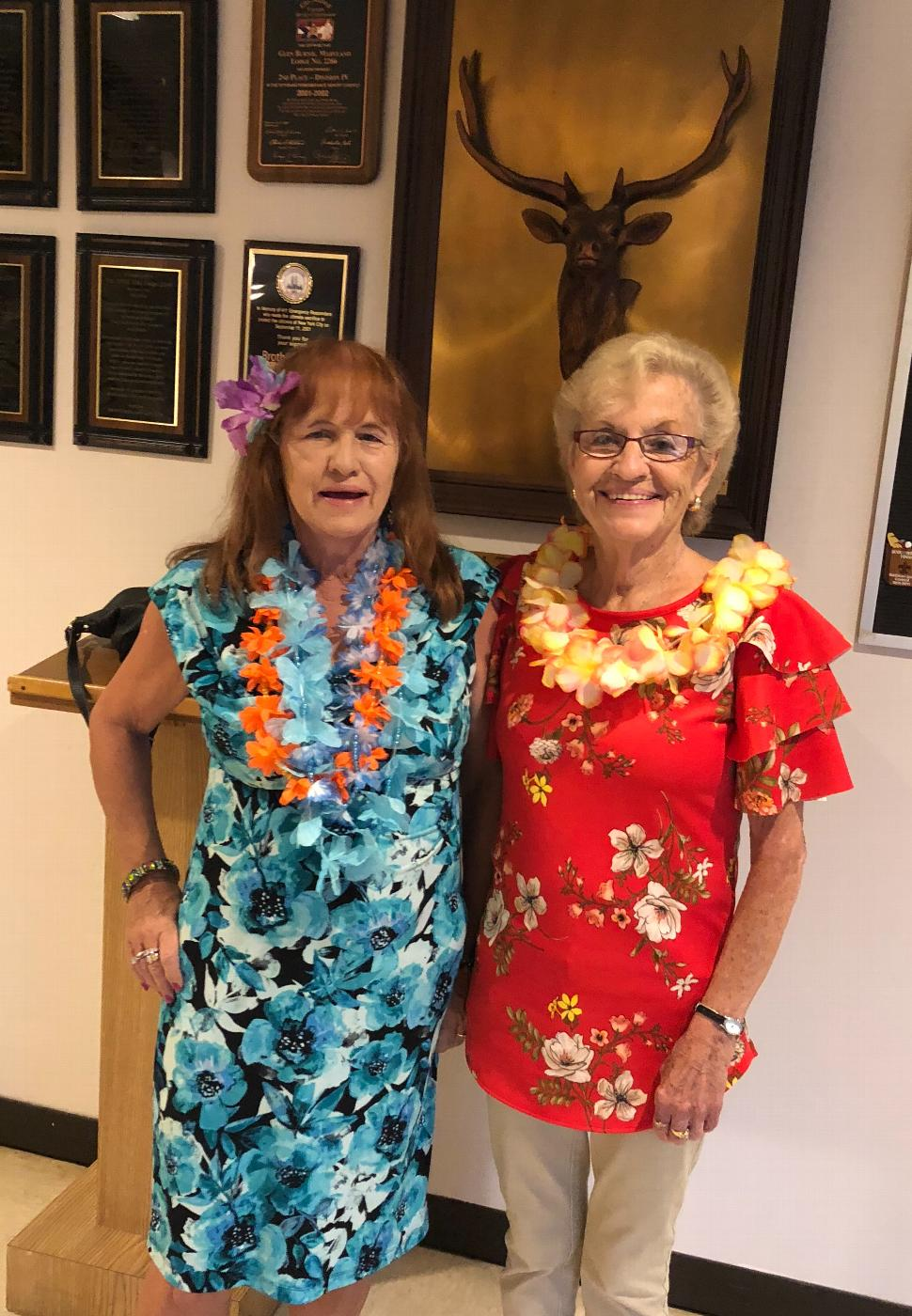 Alex and Pat on Luau Day.
