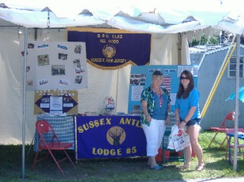 Member Sue Doyle and Antler Stephanie Green at Display for Special Needs Children, Veterans and Drug Awareness.