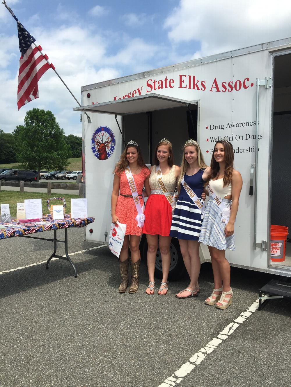 Miss Wantage (Multiple years) at the Drug Awareness Trailer during Wantage Day May 2015