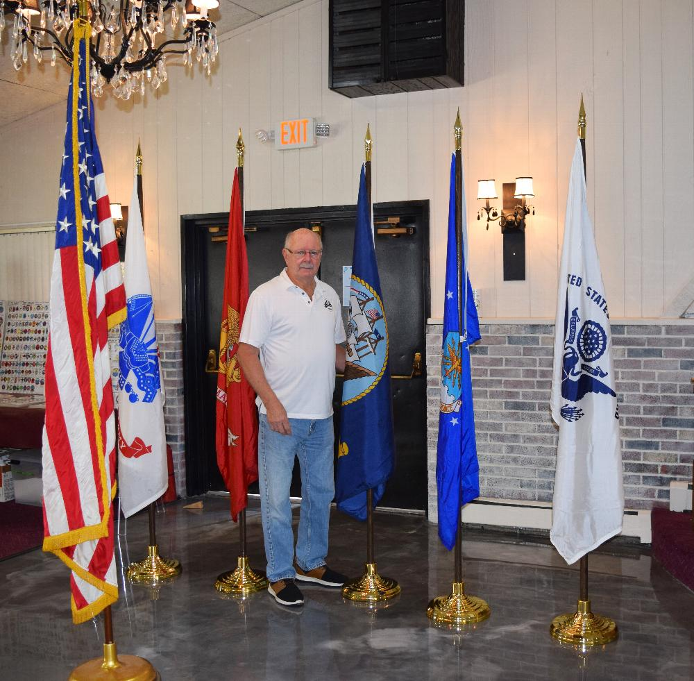 Stanley donated the flag poles