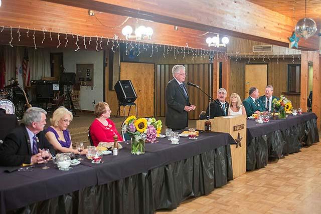 PGER Jim Damon speaks at the 50th Anniversary dinner