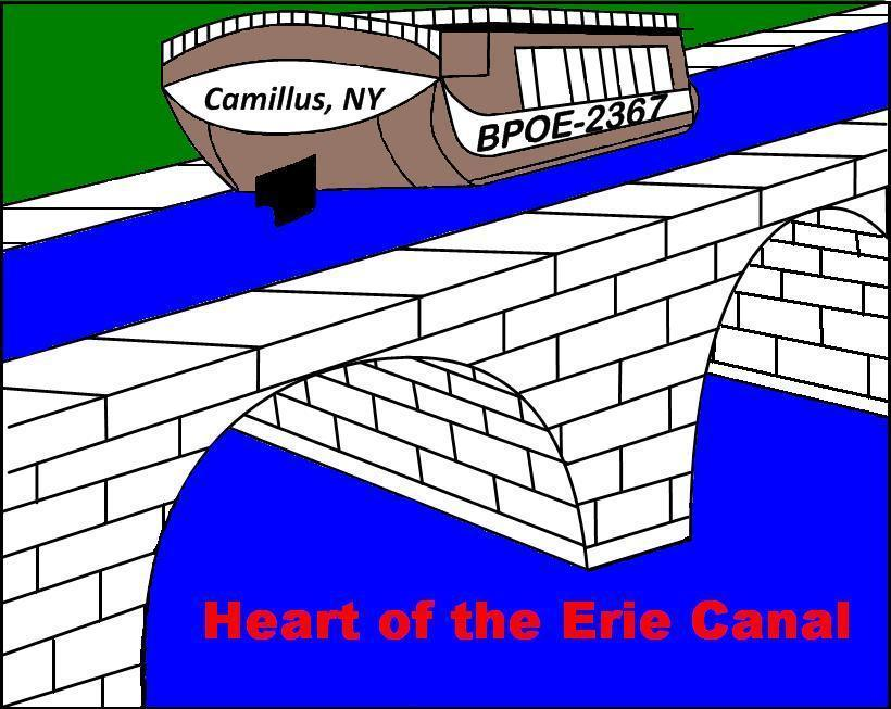 The Camillus Elks Lodge is in the center of NYS and is at the Heart of the Erie Canal.