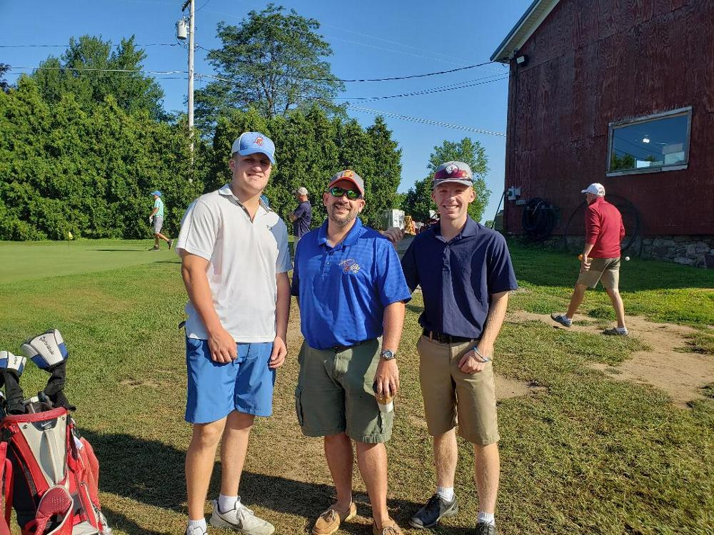 Loyal Knight Joe Andrews shown with players the Lodge sponsored for the District Junior Golf Tournament. 2019