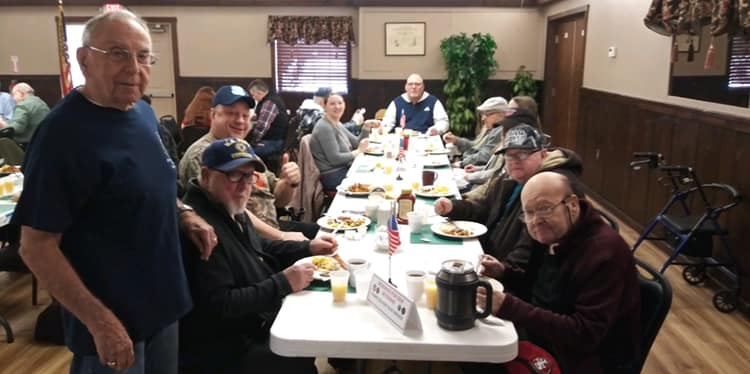 Our Lodge is proud to welcome disabled veterans to our monthly Sunday breakfasts. Another means of expressing our appreciation for the sacrifices they have made. (October 27, 2019)