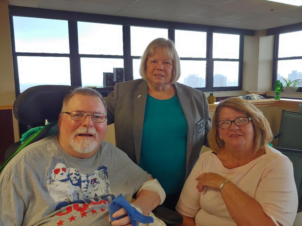 The Camillus Elks Lodge takes pride in supporting Vets. Lodge Secretary Cheryl Chesneski recently assisted in delivering and serving a pasta dinner to residents at the Syracuse VA Hospital. Each month we provide a pasta dinner and a pizza dinner to help improve the moral of the residents. (June 2019)