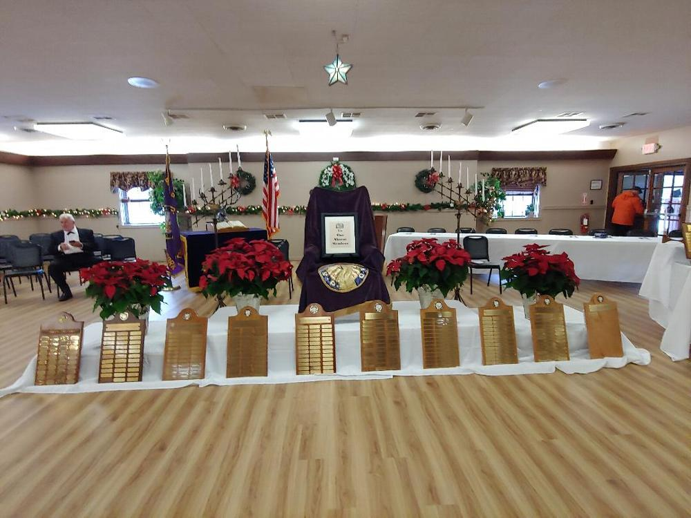 Our Lodge has prepared for our Memorial Day Ceremony. All past Lodge and auxiliary members are remembered. 2019