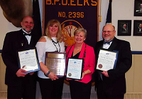 From left to right - Mark Sedore, Lynn Sedore, Kelly Haggmark, Rick Haggmark 2017 award recipients