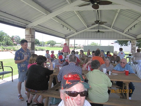 Our great pavilion - another great time had by all!