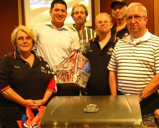 A presentation of Grill from the Mesquite Elks Lodge and Ladies Auxiliary to a Wounded Warrior on May 19th in Mesquite