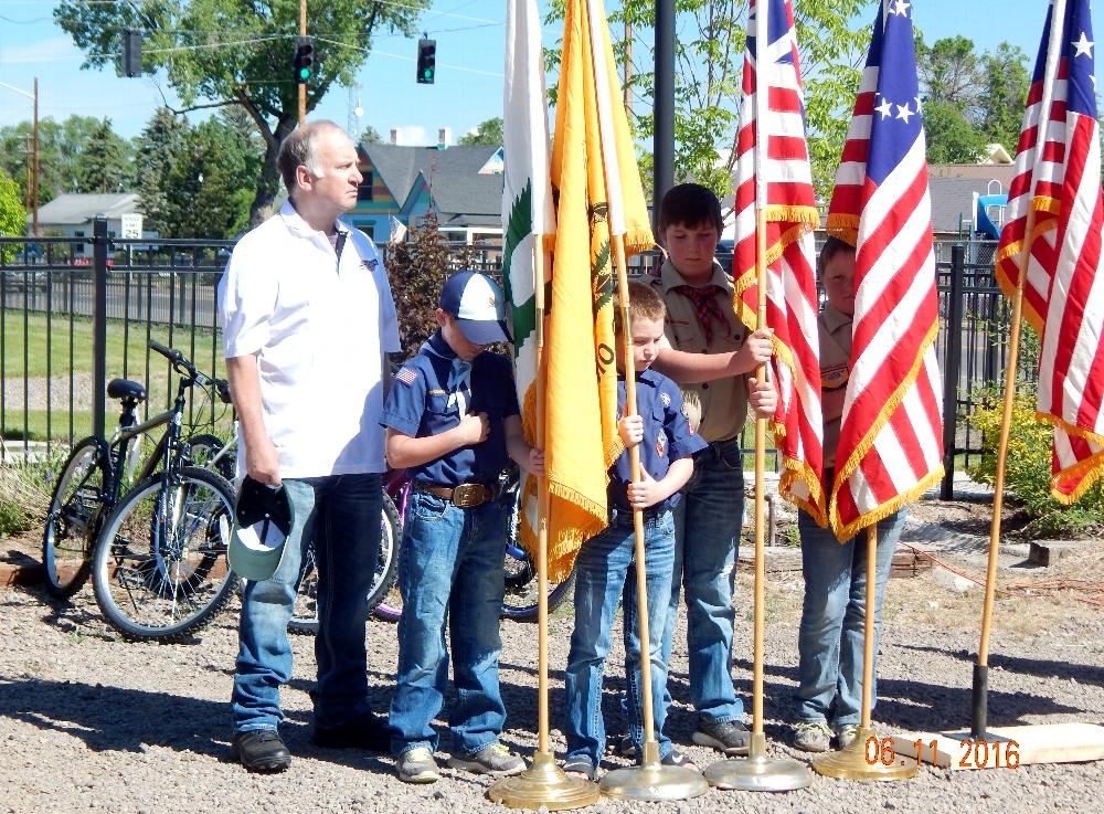 Tom Tancula helps the Boy Scout Troop #287