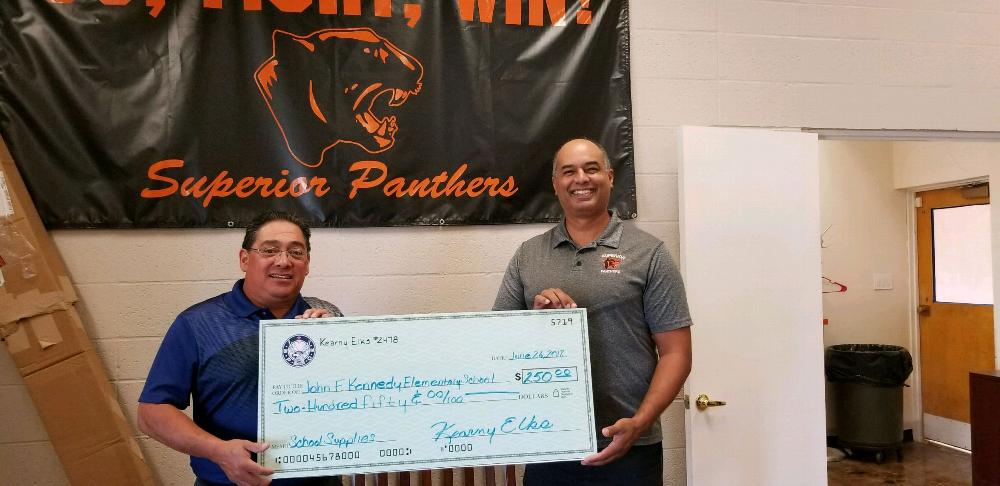 Donating $250 to Superior Schools for classroom supplies