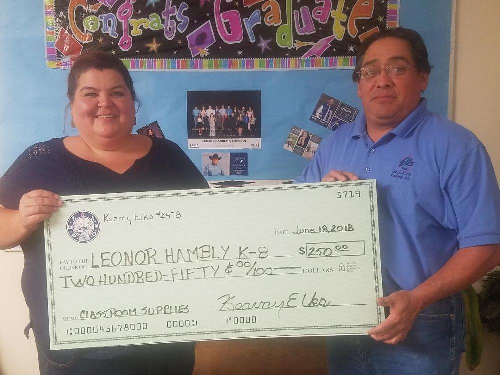 Proud to support our local schools - donating $250 to Hayden Schools for classroom supplies.