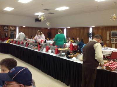 Elks Breakfast Buffet in the Hall