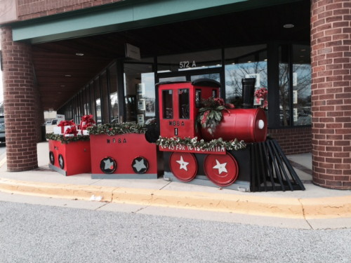 The Elk's Lodge Train Collecting Toys For Tots!