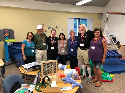 Delivering occupational therapy equipment to St. Mar Academy