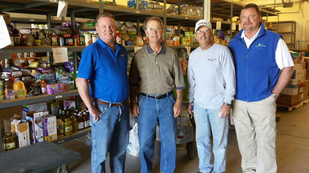 Nov, 2016. Brother George Tenzca (2nd right) took 2 pallets of donated Cleaning supplies in his camper to elks lodges in Lumberton NC to help with the flood recovery. Elks Care, Elks Share