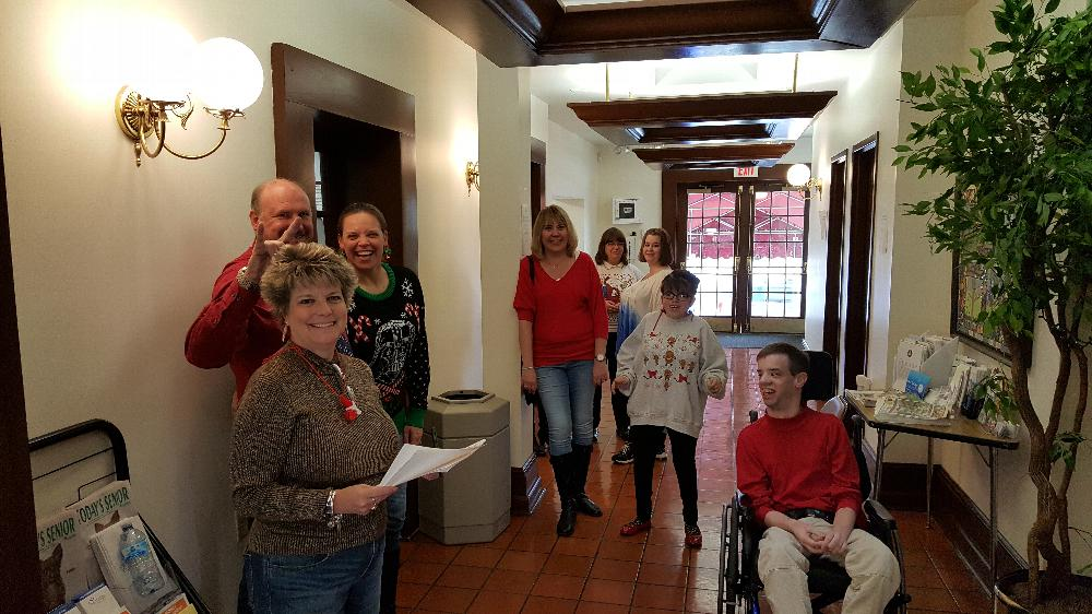 Special Childrens Committee Christmas Party 2016. Checking in our guests