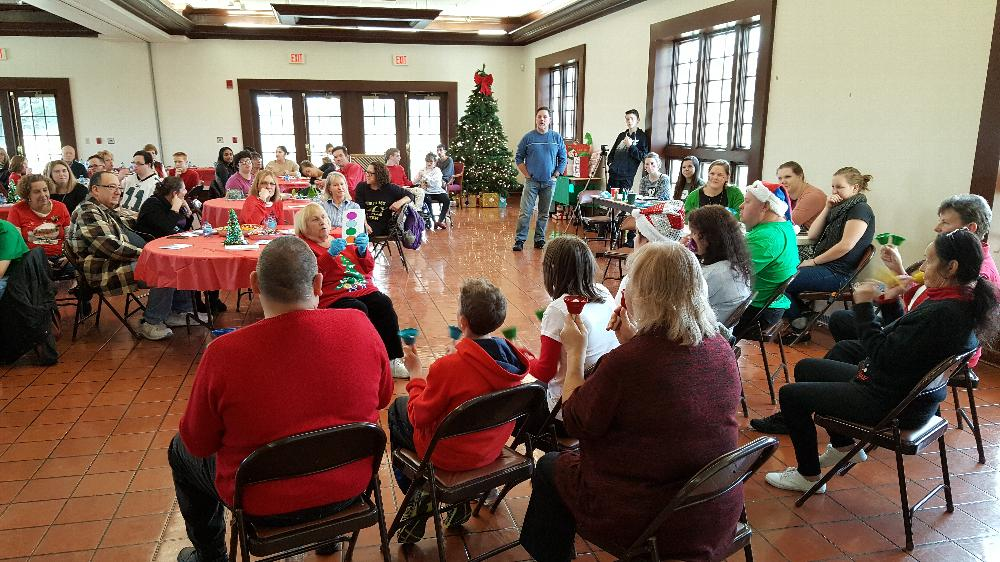 Camden County Bell Choir at the SCC Christmas party -12-4-16