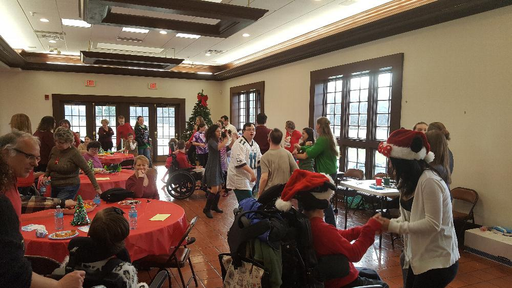 Time for dancing at the SCC Christmas party 12-4-16