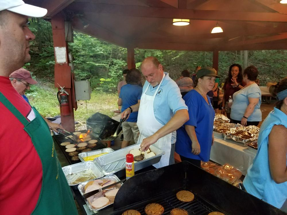 Grillin' for the the kids at Camp Moore