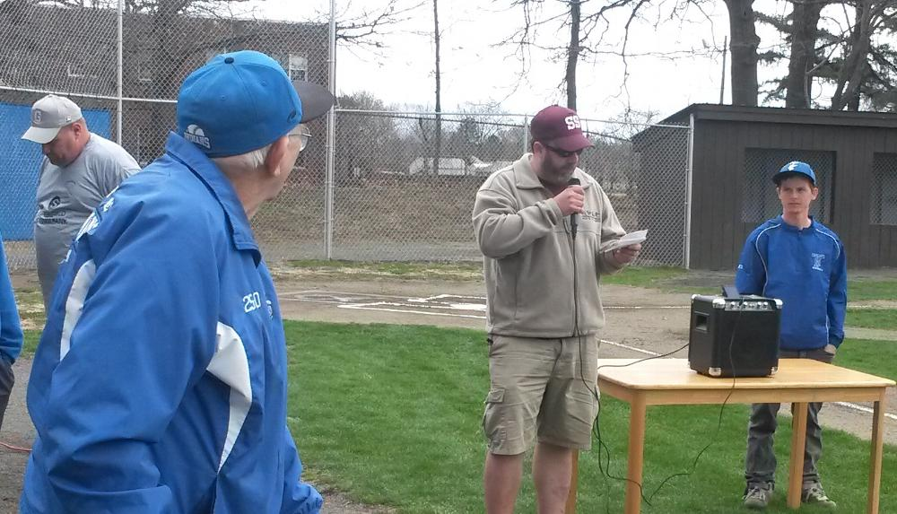 Newt Guilbault Baseball League opening day. 4-27-2014.  The league founder was in attendance.