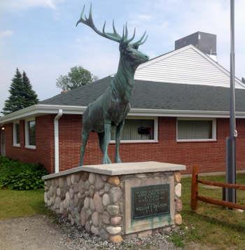 Tawas Lodge Elk Statue
