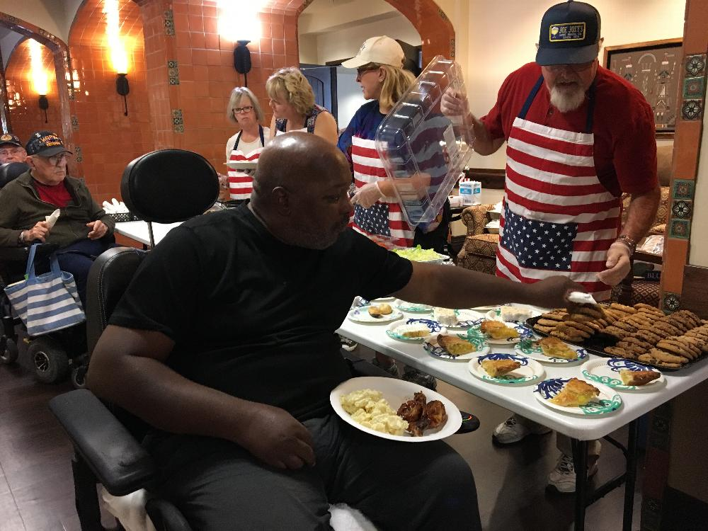 Tucson East Veterans Committee hosts a BBQ at the Arizona State Veteran Home-Tucson.