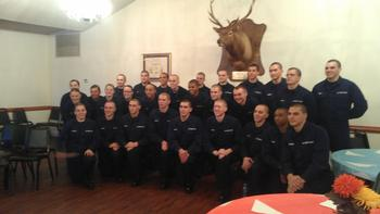Coast Guard Cadets Thanksgiving Day 2013