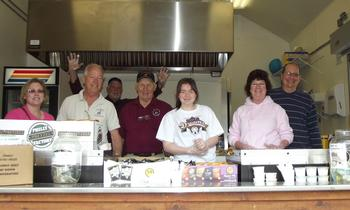 Cooking and serving at South Jersey Field of Dreams 2014