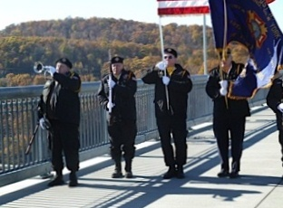 Color guard from the VFW in Highland NY