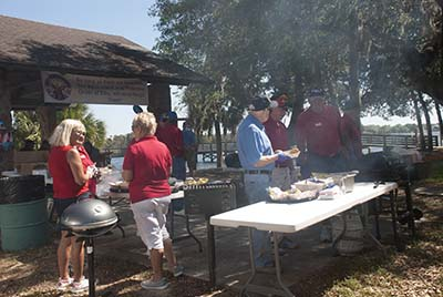 Veterans from area assisted living facilities were invited to a day of fishing and fun at Fort Island Trail Park.