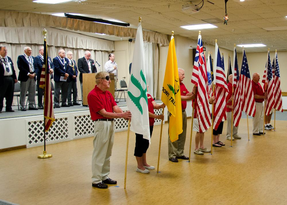 Flag Day celebration. Presentation included a history of our nations flags and what they represented.