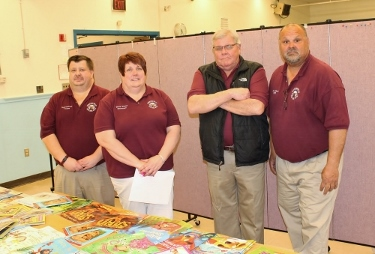 The Sebasticook Valley Elks Lodge sponsored Family Literacy Night at Manson Park School in Pittsfield on May 21,2014 thanks to a $2,000 Elks National Foundation Gratitude Grant.  Pictured (left to right) are Trustee Royal Thornton, Secretary Terry White, Exalted Ruler Dennis Bragg and State Trustee Michael Havey, PER.